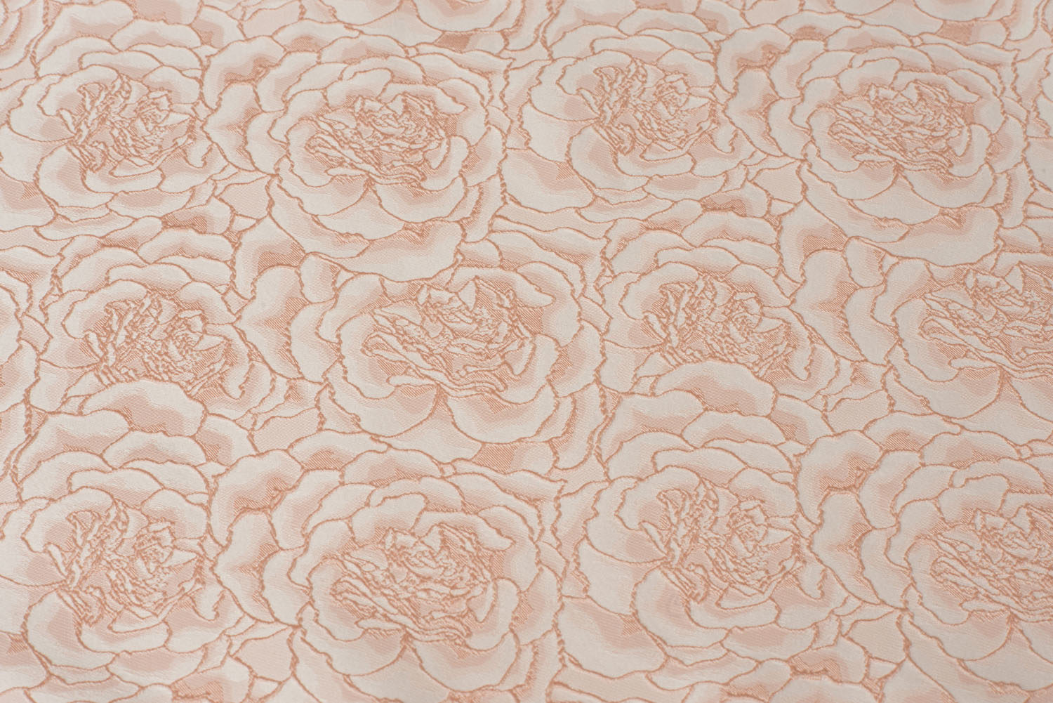 Textured Pink Rose Pattern Velvet Border With Cording Banquet Table Runner